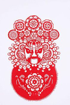 Chinese paper cutting Chinese Mask, Chinese Opera, 2019 Chinese Zodiac, Chinese Paper Cutting, Graphic Illustration, Illustrations, Chinese Patterns, Pad Design, Paper Artwork