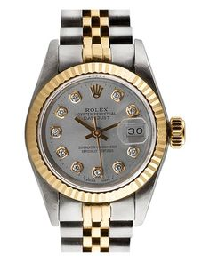 """Some of you have to get in on this: Rolex Women's 1980s """"Datejust"""" Diamond Watch"""