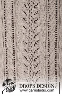 """Strikket DROPS bluse i """"Cotton Light"""" eller """"Belle"""" med hulmønster og snoninger. Str S - XXXL. ~ DROPS Design"""