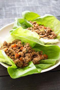 Turkey Lettuce Wraps - fresh, light, and takes less than 30 minutes to make!