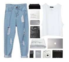 """""""Born to be wild."""" by marysilvs1 ❤ liked on Polyvore featuring Samsung, Frette, Monki, NARS Cosmetics, Fujifilm, Home Source International and SELECTED"""