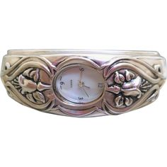 Vintage Solid Sterling Silver Watch with Art Nouveau Design