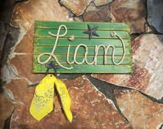 LIAM: 27 Country Rope Name Sign Farm Theme Room by RopeAndStyle