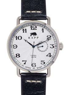 Round Stainless Steel Capel Watch, 41mm from rapp black on Gilt