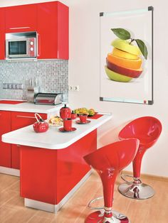 Electric #glass decorative radiator MYWARM TOUCH ME - poster 15 by PMC Design #kitchen #red