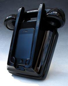 ha! Iphone wall mount handset