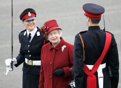 15 Dec SANDHURST, United Kingdom --- Britain's Queen Elizabeth II smiles with Prince William during the Sovereign's Parade at the Royal Military Academy in Sandhurst --- Image by © POOL/Reuters/Corbis Hm The Queen, Save The Queen, Lady Diana, Royal Military Academy Sandhurst, Prinz Philip, British Monarchy, Thing 1, Princess Charlotte, Queen Elizabeth Ii
