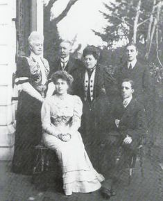 Ena with her husband Alfonso and members of her family including her mother Beatrice.