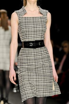 John Richmond Fall 2012 - oh i WANT this dress!  Pockets would make it perfect! :)