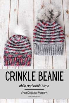 This easy crochet pattern uses a twist on the popular V-stitch and beautiful chainette yarn to make a pillow soft beanie perfect for cool days. Leave it as is or top it with a faux fur pom. Keep reading for the free crochet pattern. Crochet Beanie Pattern, Easy Crochet Patterns, Crochet Yarn, Free Crochet, Crocheted Hats, Knit Hats, Hat Patterns, Chrochet, Crochet Ideas