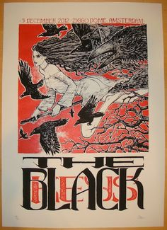2012 The Black Keys - Amsterdam Concert Poster by Malleus