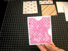 New Envelope Pocket Page Tutorial.  Great for a mini book.