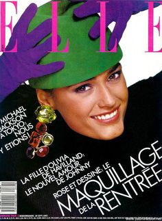 Yasmin Le Bon ElLLE MagazineCover 1987