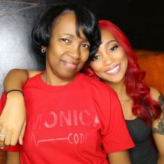 monica and her mommy