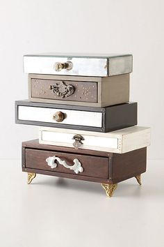 Topsy-Turvy Jewelry Box #anthropologie... I still love this jewelry box and will make it!...
