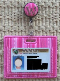 In The Hoop :: Women's Accessories :: Badge Reel ID Holders - Embroidery Garden In the Hoop Machine Embroidery Designs
