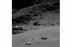 """Die Landung auf dem Kometen """"Tschuri"""" in einer Ausstellung im Berliner Naturkundemuseum"""