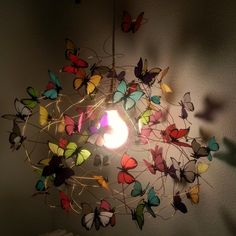 Lamp with multicolor butterflies Tutti Frutti XL