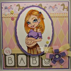 Redonkadoodles.com - Pregnancy Glow - Digital Stamp  Handmade Card Design By: justwordz.ca