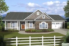 1000 Images About Small House Plans With Attached Garages