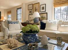 Historic Farmhouse in Upstate New York – Blue and White Home