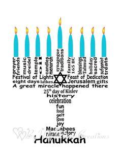 Hanukkah Decoration Art Hanukkah Menorah Word by ByMyWordCreations Hanukkah Blessings, Hanukkah Cards, Hanukkah Decorations, Hanukkah Menorah, Hannukah, How To Celebrate Hanukkah, Happy Hanukkah, Jewish Beliefs, Happy New Year Gif