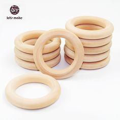 LANDUM Handmade Natur Holz Band Bei/ßring Armband Baby Kinder Dusche Kauen Spielzeug