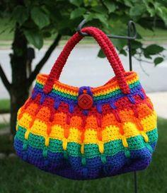 Crochet Bags Design Ravelry: Gradient Blocks Handbag pattern by Sonya Blackstone - ~Pattern Bundle Discounts~ Crochet Purse Patterns, Bag Crochet, Crochet Shell Stitch, Crochet Handbags, Crochet Purses, Love Crochet, Crochet Hooks, Knitting Patterns, Handbag Patterns