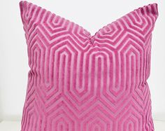 On SALE,Pink  Pillow,Purple Pillow Cover, Pink Velvet Pillow Cover,Velvet Geometric Pillow,Purple  Velvet Pillow,Purple Cushion,Pink Cushion