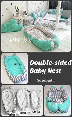 double-sided baby nest for newborn babynest, sleep bed, cot, snuggle nest, pod, baby nest pattern, sleep nest, co sleeper #baby #infant #afflink #nursery