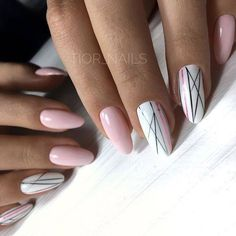 40 Nageldesigns 2019 – Nagellack-Kunst - Hand Nail Design FoR Women Manicure Nail Designs, Manicure E Pedicure, Fabulous Nails, Perfect Nails, Nude Nails, Pink Nails, Hair And Nails, My Nails, Nagellack Design