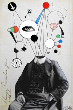 """A Simple Man,"" surreal collage by Loui Jover 