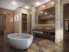 baños modernos con jacuzzi - Buscar con Google