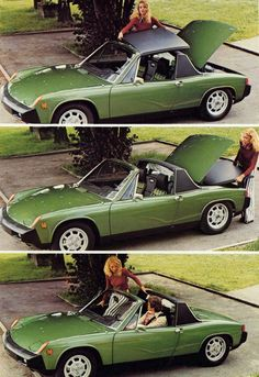 1970 Porsche 914-Mine was bright green like this one and probably the reason I sold it. I hate green!
