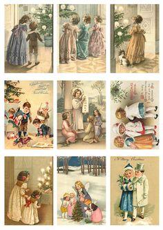 vintage images   A4 Vintage X-mas Children (15) [A4VA6] : PaperCraft Scandinavia, For ...