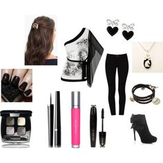 """black and silver"" by mercedesandhoss on Polyvore"