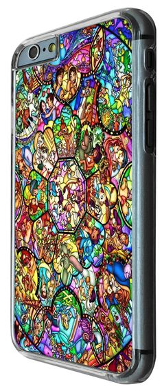 Amazon.com: Characters Disney Stained Glass Cute design Cool iphone 6 4.7'' CASE BACK Cover-Plastic&Metal: Cell Phones & Accessories