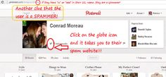 Please see how to spot a spammer!!  These are two definite ways to spot them immediately!!!
