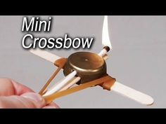 How to Make a Miniature Crossbow Out of Household Items