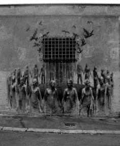 Street-Art-by-Borondo-from-Spain-4-1-mini- This a great example of the volume of art street art can provide, for a second one is forced to have emotion outside our everyday numbness