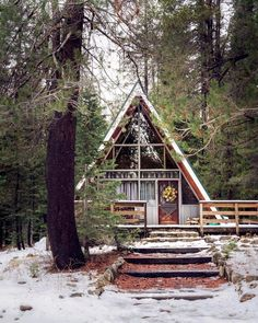 an a-frame cabin is my scandi dream <3