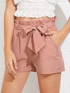 Shop Self Belted Ruffle Waist Shorts online. SheIn offers Self Belted Ruffle Waist Shorts & more to fit your fashionable needs. Short Outfits, Trendy Outfits, Fashion Outfits, Fashion Shorts, Trendy Clothing, Fashion Styles, Men Fashion, Street Fashion, Fashion Ideas