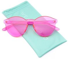 WearMe Pro - Colorful Transparent Round Super Retro Sungl...