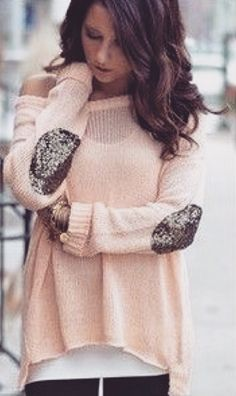 This sweater would look really cute with some leggings and boots!