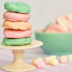 Misty Minty Peppermint Patties recipe. Dipped in colored white chocolate. Oh my, homemade candy mints.
