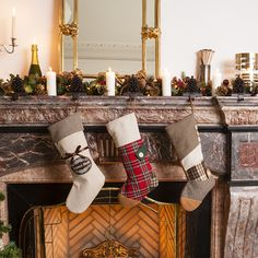Add some extra print and culture to your home this Christmas with the addition of this red tartan stocking. Boasting rich Scottish charm, this stocking features a patchwork effect in completing colours. The body of the stocking is finished in a bright red traditional tartan, covering a large section of the front and the complete back of the stocking. A cream herringbone print creates the top of the stocking, with a brown plaid tartan fashioning a heel and brown felt patch covering the toes.