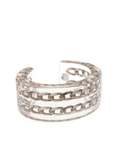 Cuff with silver Chain by Luc Kieffer