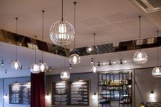Home - Retail Focus Globe Pendant Light, Pendant Lights, Hereford, River Walk, Glass Pendants, Commercial, Chandelier, Ceiling Lights, Lighting