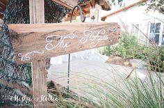 DIY wood signs at wedding
