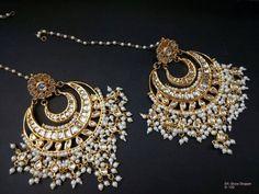 Dainty Jewelry Earrings and Beautiful Jewelry Girls. Indian Jewelry Earrings, Jewelry Design Earrings, India Jewelry, Cute Jewelry, Beaded Jewelry, Jewelery, Vintage Jewelry, Handmade Jewelry, Diamond Jewelry